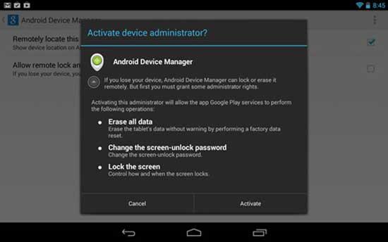 Thiết bị Android có thêm tính năng khóa máy từ xa