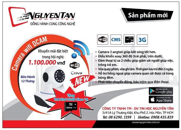 Camera IP xoay 360