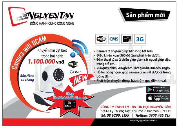 Khuyến mãi camera IP xoay 360 độ