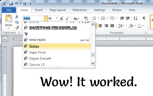 Giữ nguyên định dạng font khi chia sẻ tài liệu Word